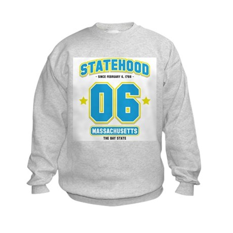 Statehood Massachusetts Kids Sweatshirt