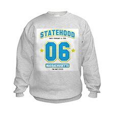 Statehood Massachusetts Kids Sweatshirt