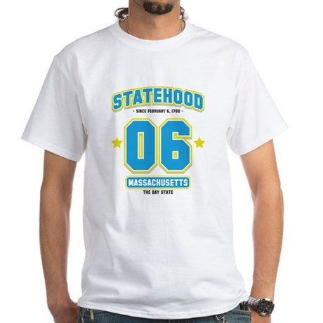 Statehood Massachusetts White T-Shirt