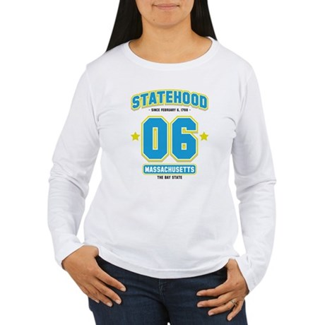 Statehood Massachusetts Women's Long Sleeve T-Shir