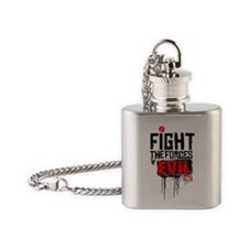 Fight the Forces of EVIL! Flask Necklace