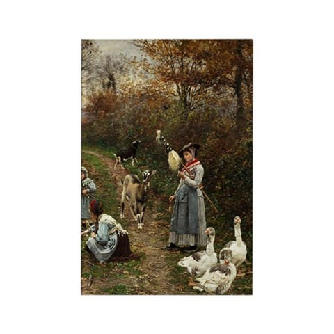 Vintage Painting of Ladies and Ge Rectangle Magnet
