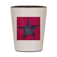 Blue Star Shot Glass
