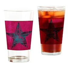 Blue Star Drinking Glass