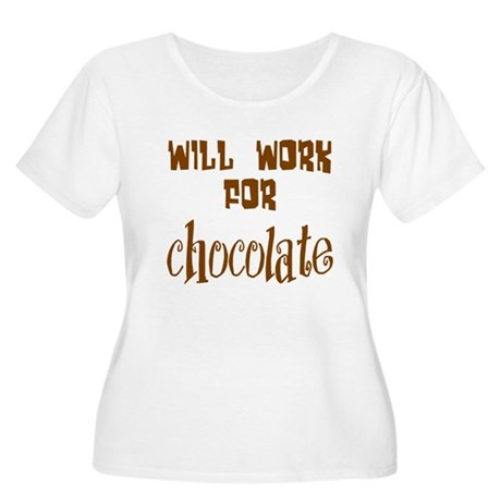 Work for Chocolate Women's Plus Size Scoop Neck T-