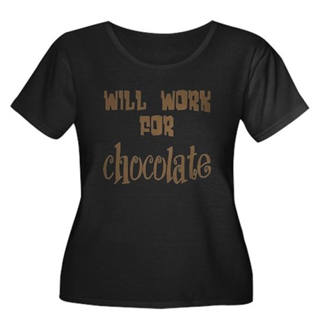 Work for Chocolate Women's Plus Size Scoop Neck Da