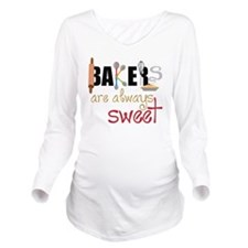 Bakers Are Always Sw Long Sleeve Maternity T-Shirt