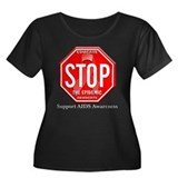 AIDS Awareness Women's Plus Size Scoop Neck Dark T