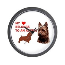 Unique Australian terrier Wall Clock