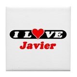 I Love Javier Tile Coaster