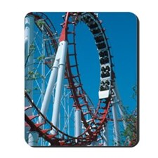 Loop section of a rollercoaster ride Mousepad