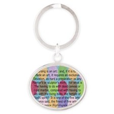 Florence Nightingale Quote Bag Oval Keychain