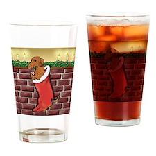 doxstockingredsq Drinking Glass