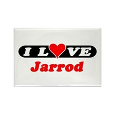 I Love Jarrod Rectangle Magnet