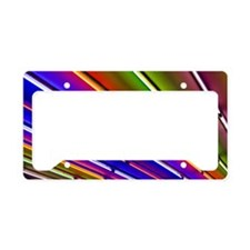 Colorful neon tubes at shop e License Plate Holder