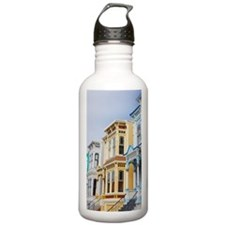 colorful Victorian hom Water Bottle