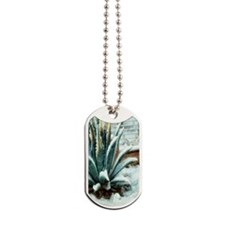 snowy aloe cactus Dog Tags