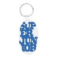 Super Junior Aluminum Oval Keychain