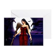 Under a Pagan Moon Greeting Card