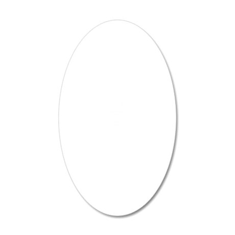 WHITE-FL 20x12 Oval Wall Decal