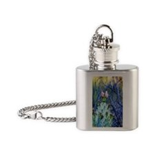 prickly pear buds Flask Necklace