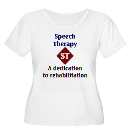 Speech Therapy Dedication Women's Plus Size Scoop