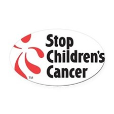 Stop Children's Cancer Logo Oval Car Magnet