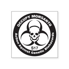 "OccupyMonsanto Square Sticker 3"" x 3"""