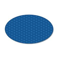 area rug 5x7 aiyana hexagon 35x21 Oval Wall Decal