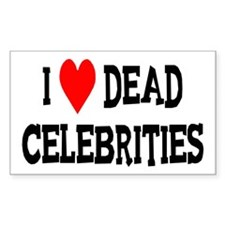 Dead Celebrities Rectangle Decal
