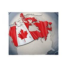 Digital Composite, flag of Canada Throw Blanket