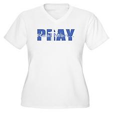 Real Men Pray - Azure T-Shirt