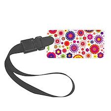 Hippie Rainbow Flower Pattern Luggage Tag