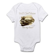 Cute Uss carl vinson Infant Bodysuit