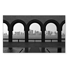 Doha skyline from museum of Is Decal