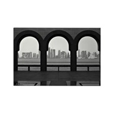 Doha skyline from museum of Islam Rectangle Magnet