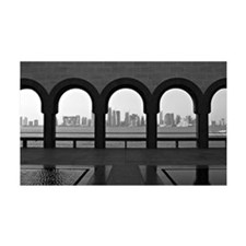Doha skyline from museum of Islam Wall Decal