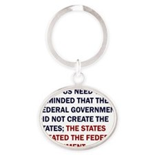 Ronald Reagan Quote Oval Keychain
