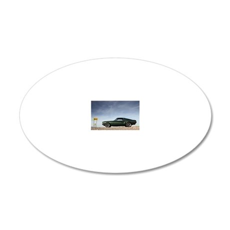 Mustang 20x12 Oval Wall Decal