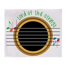 Lord Of The Strings Throw Blanket