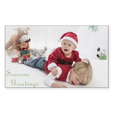 Funny Christmas Portrait Decal