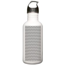 charcoal chevrons Water Bottle