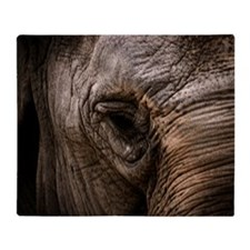 Elephant eye Throw Blanket