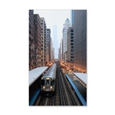 Elevated rail in downtown Chicago Wall Decal