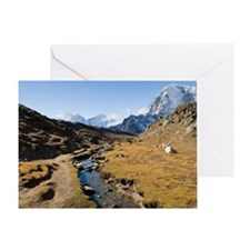 En route to Mount Everest base camp Greeting Card