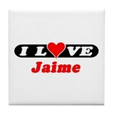 I Love Jaime Tile Coaster