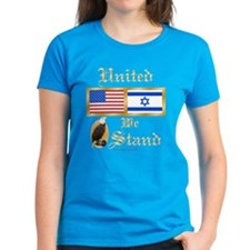US & Israel United Wmn's Dark T-Shirt