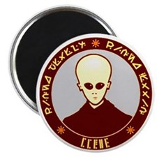 Alien Invasion Coin 1 - Round Magnet