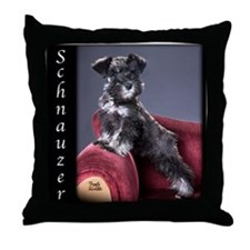 Schnauzer Puppy Throw Pillow
