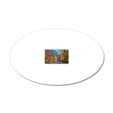 Fall colors in early Novembe 20x12 Oval Wall Decal